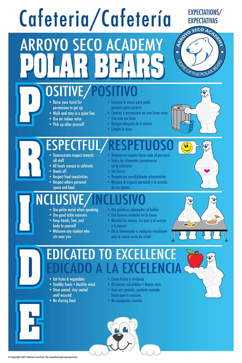 Polar Bear Cafeteria Poster