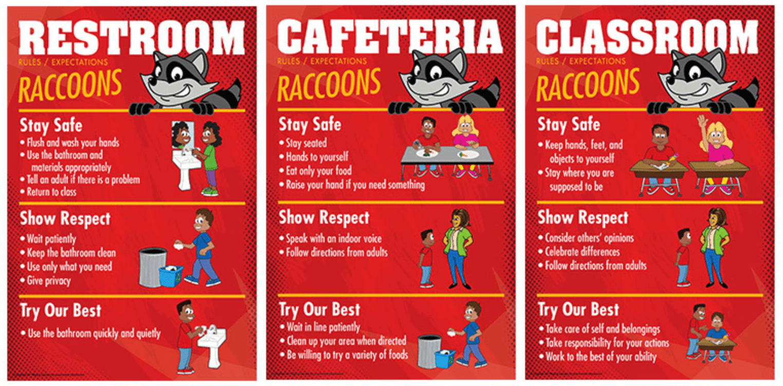 Raccoon PBIS Posters