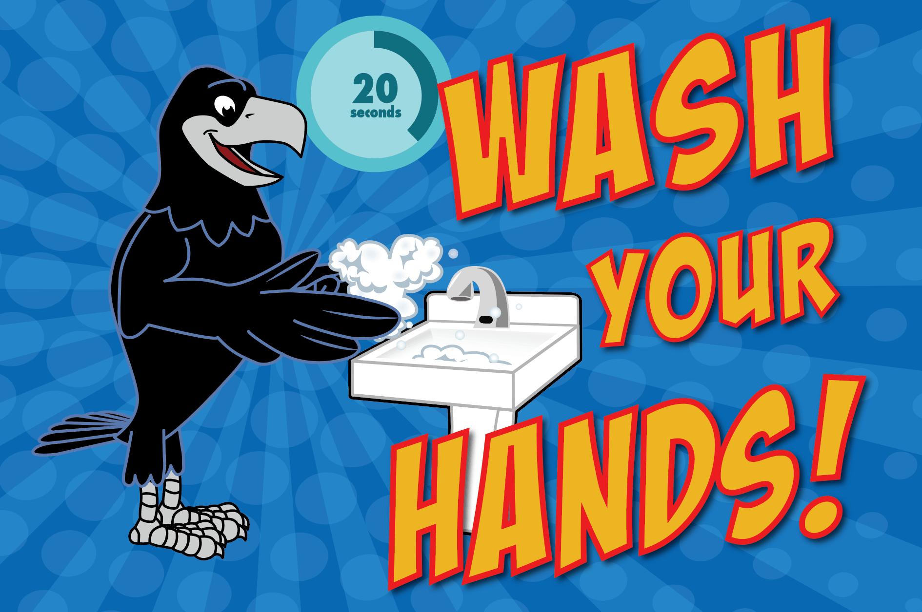 Raven Wash Hands Poster