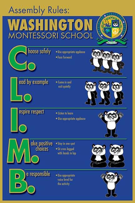 PBIS Rule Poster Panda