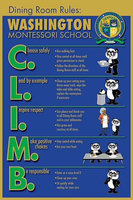 PBIS Cafeteria Rule Poster Panda