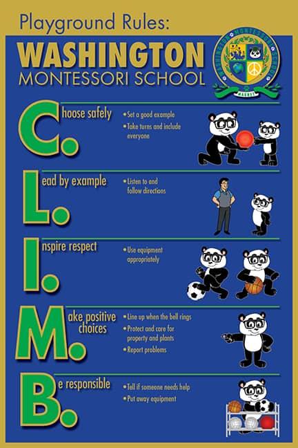 PBIS Playground Rule Poster Panda