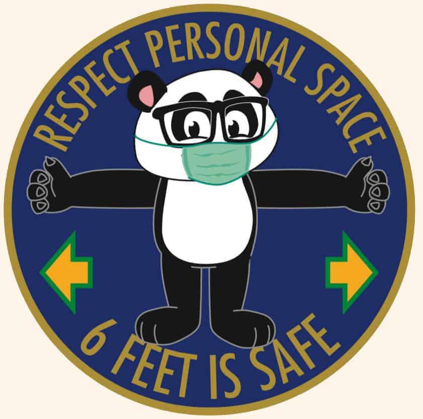 Social Distance Floor Sticker Panda
