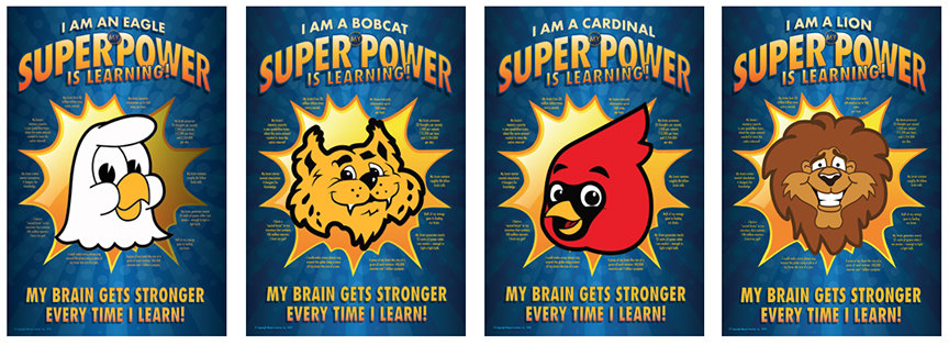 Super Power Posters School Mascot