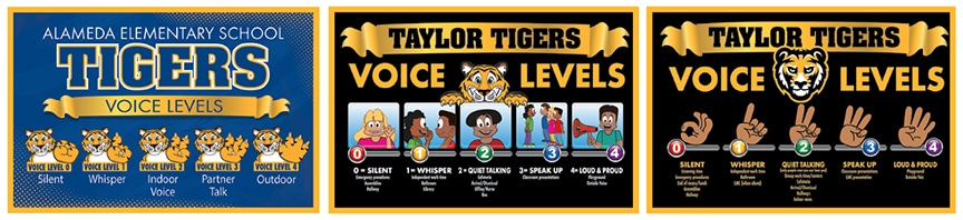 Voice Level Posters PBIS Mascot Junction