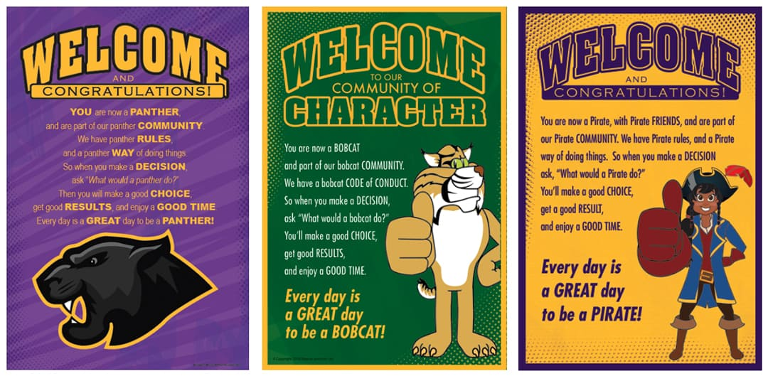 Welcome Posters PBIS Character Education