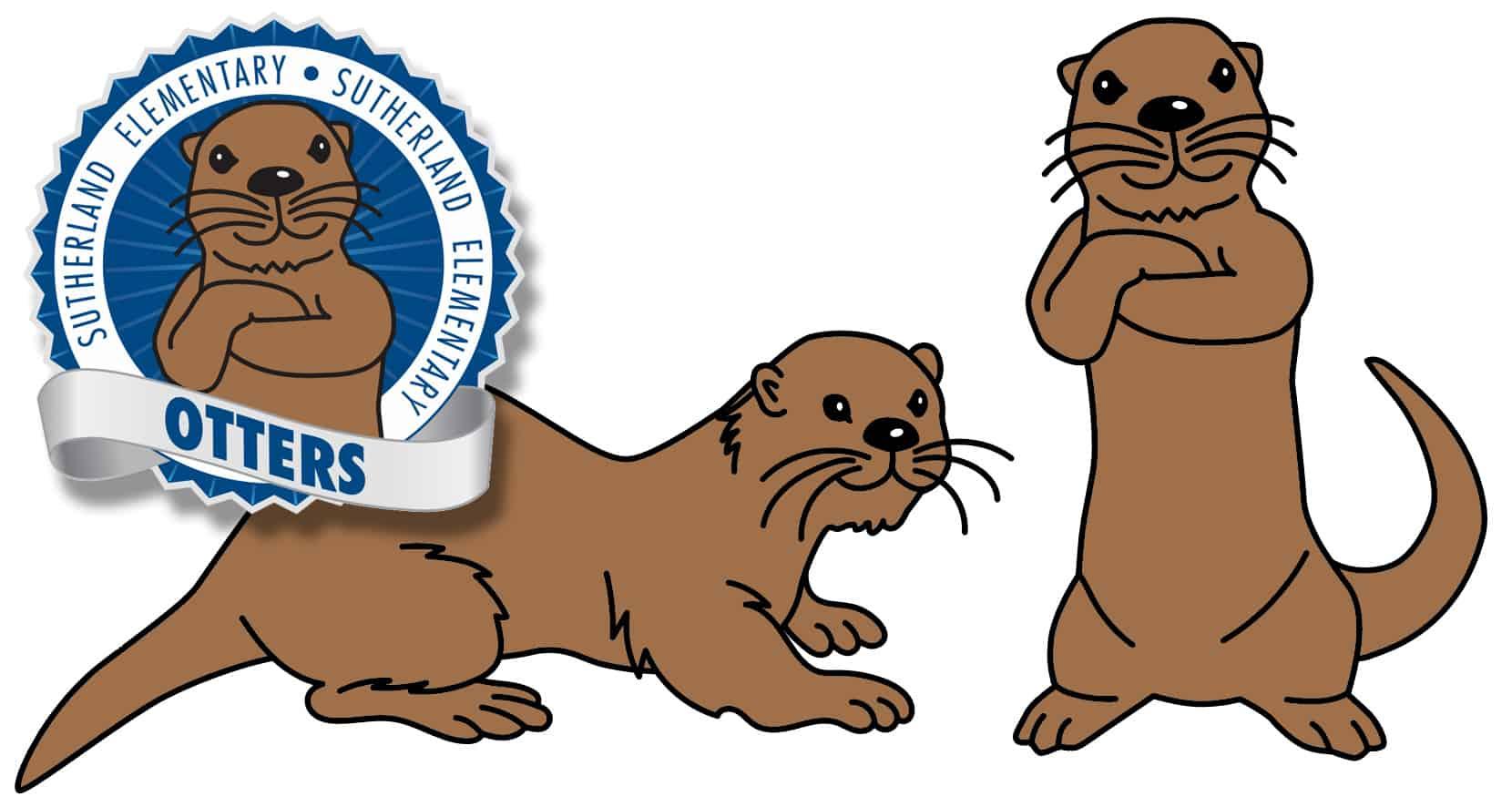 Otter Mascot Logo Clip Art