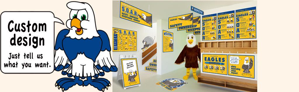 Skyhawk Mascot Posters