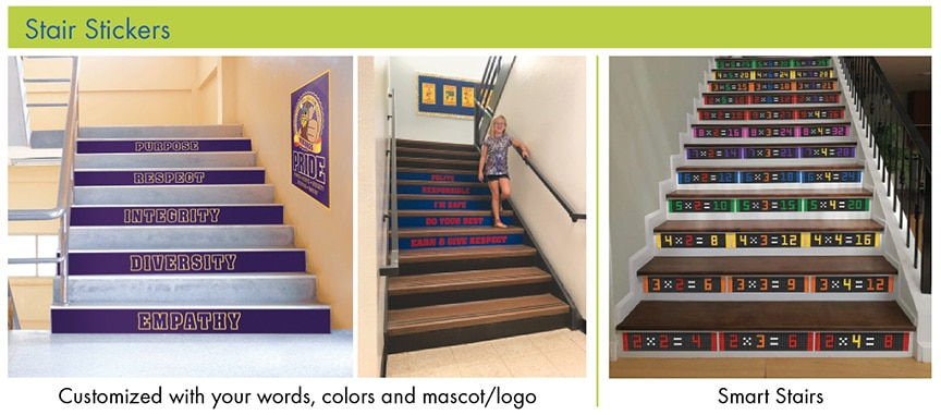Stair Stickers School