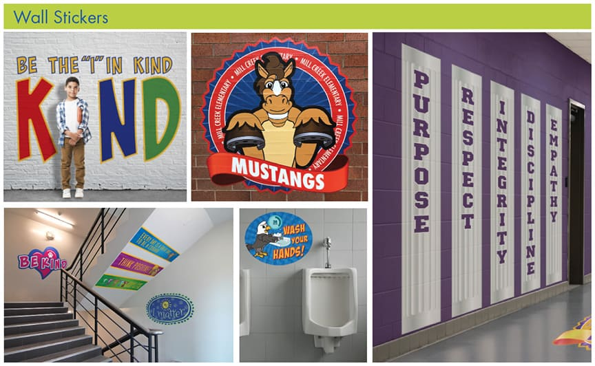 Wall Stickers School Branding