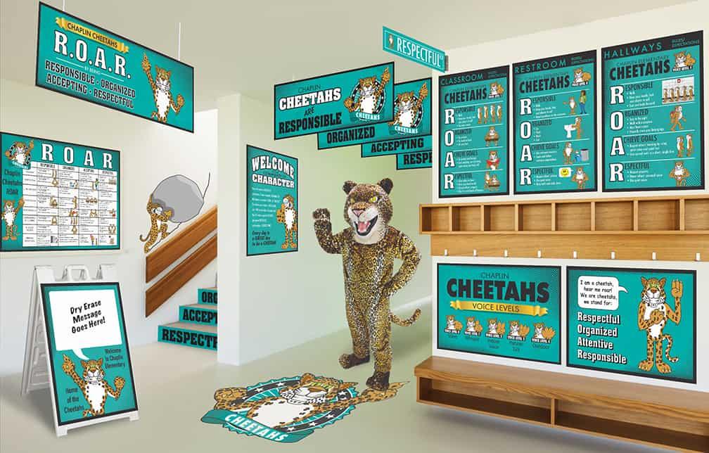 Cheetah Mascot Products