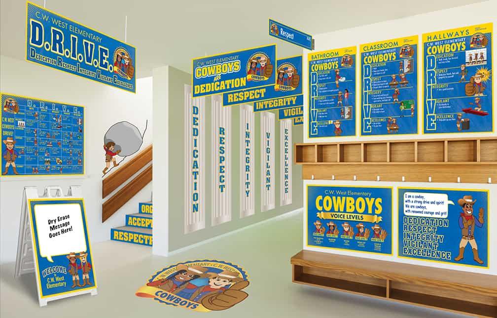 Cowboy Mascot Products