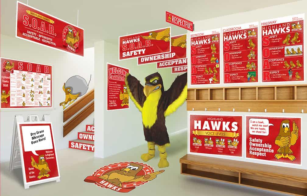 Hawk Mascot Products