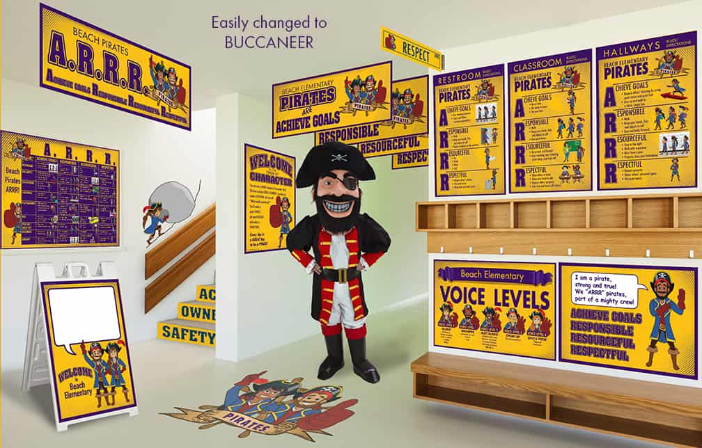 Pirate Buccaneer Mascot Products