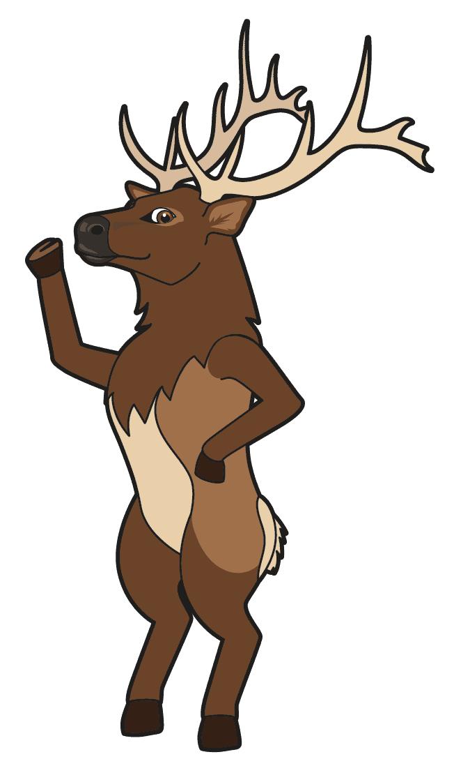 Elk Reindeer Mascot