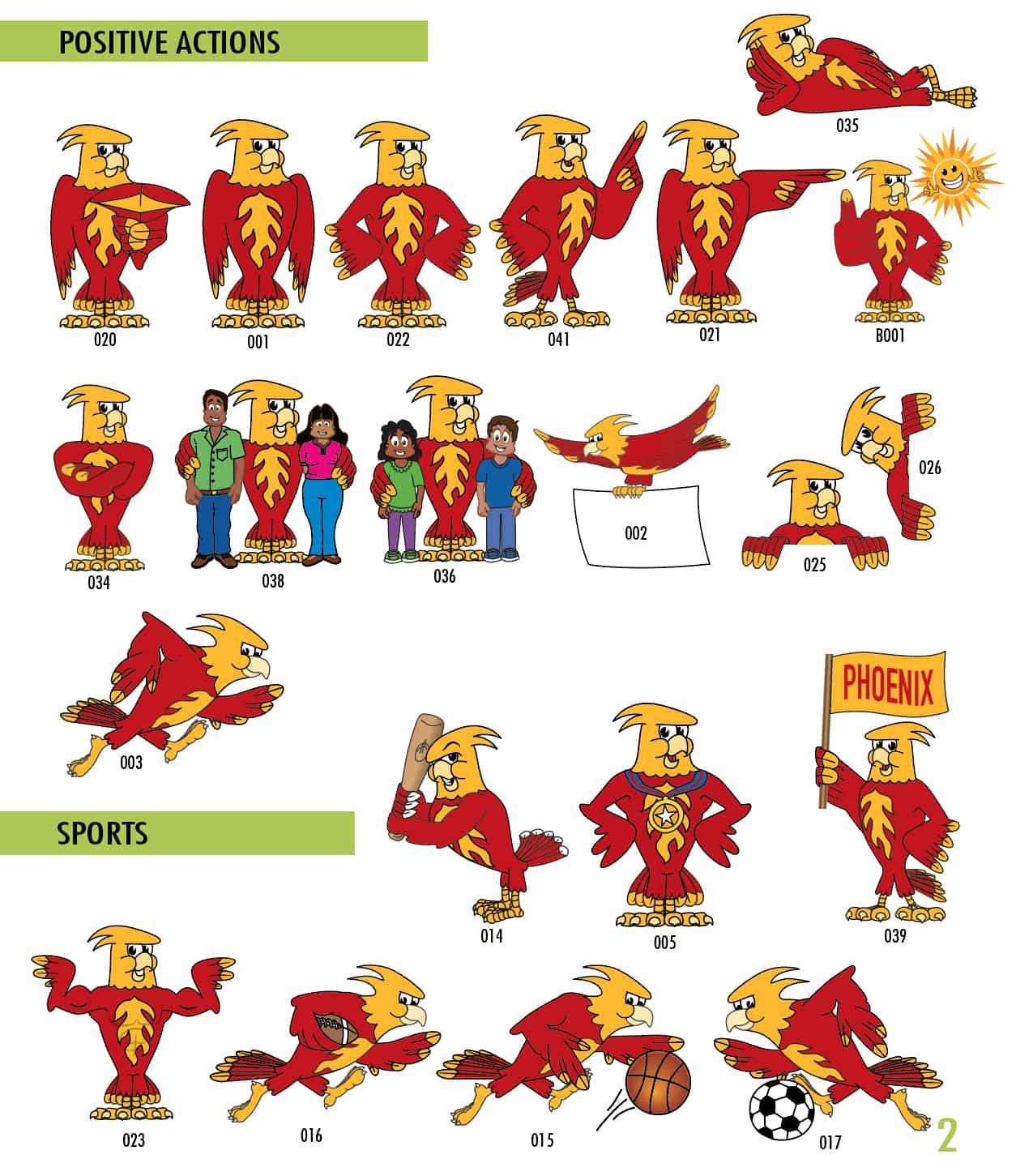 Phoenix Mascot Clip Art 1