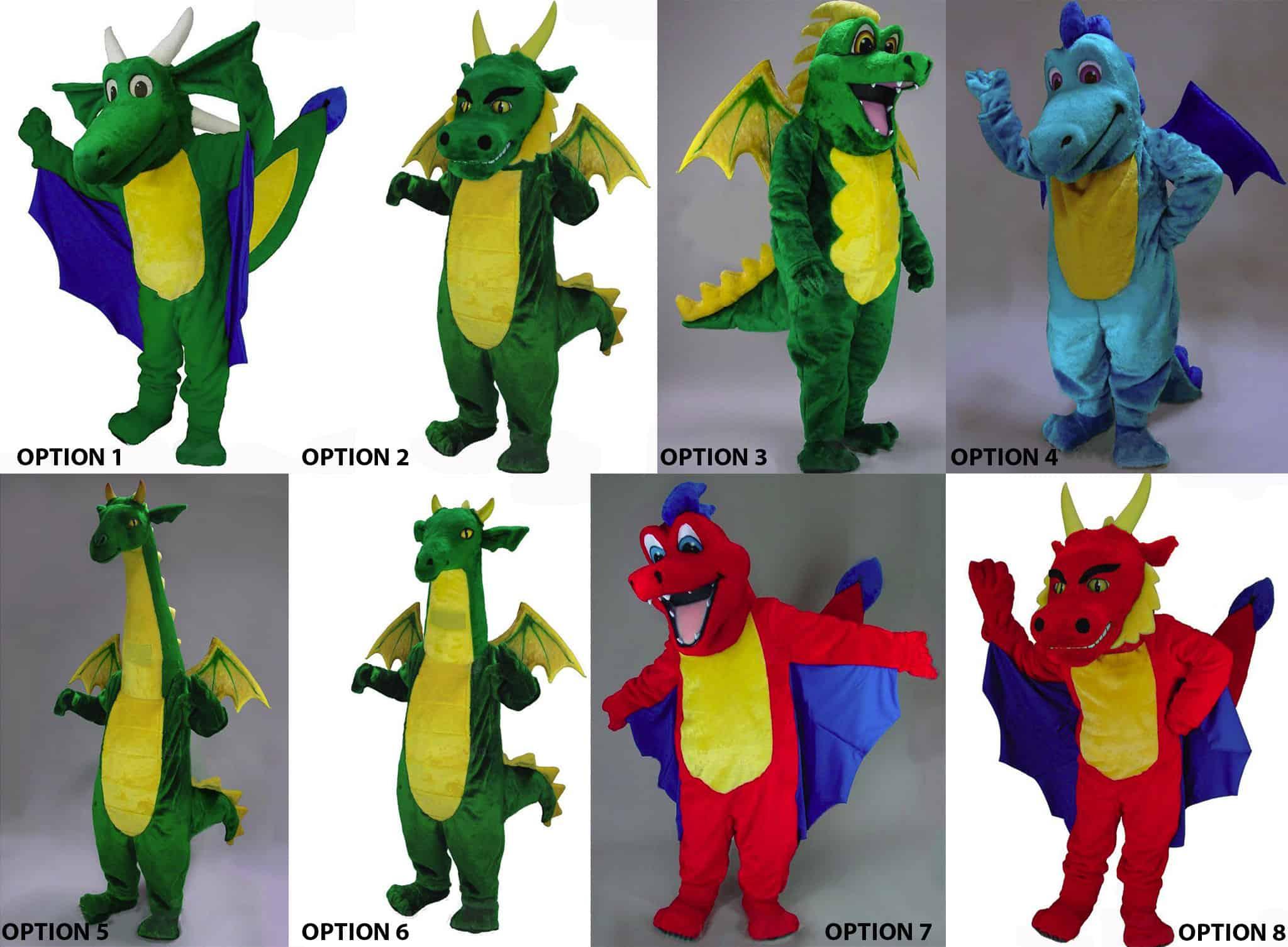 dragon mascot, dragon costume, mascot costume