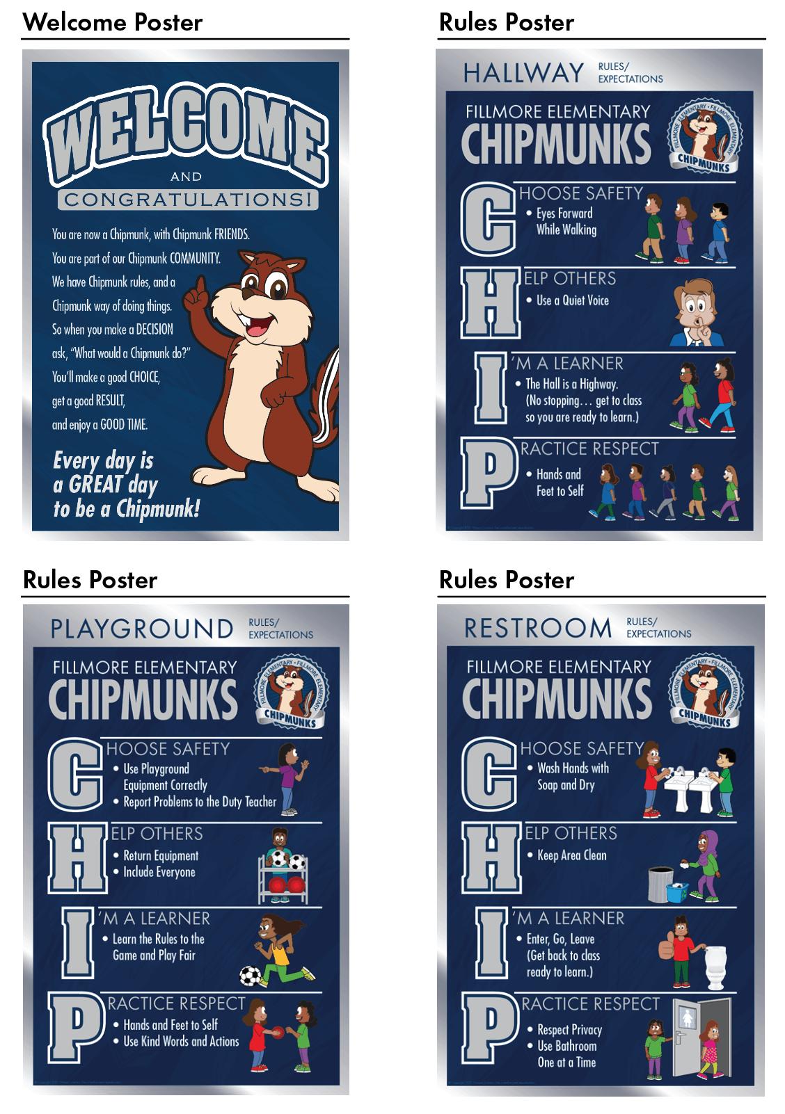 Chipmunk Mascot Posters