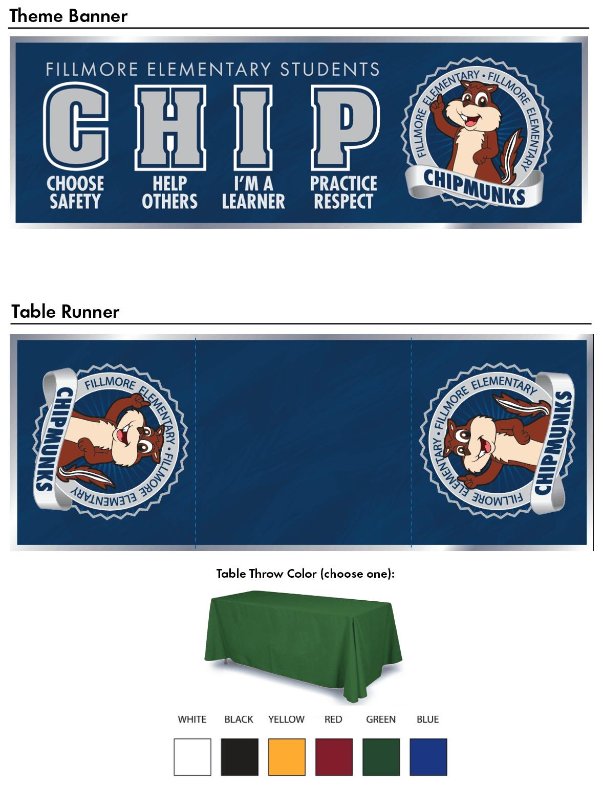 Chipmunk School Mascot Banners