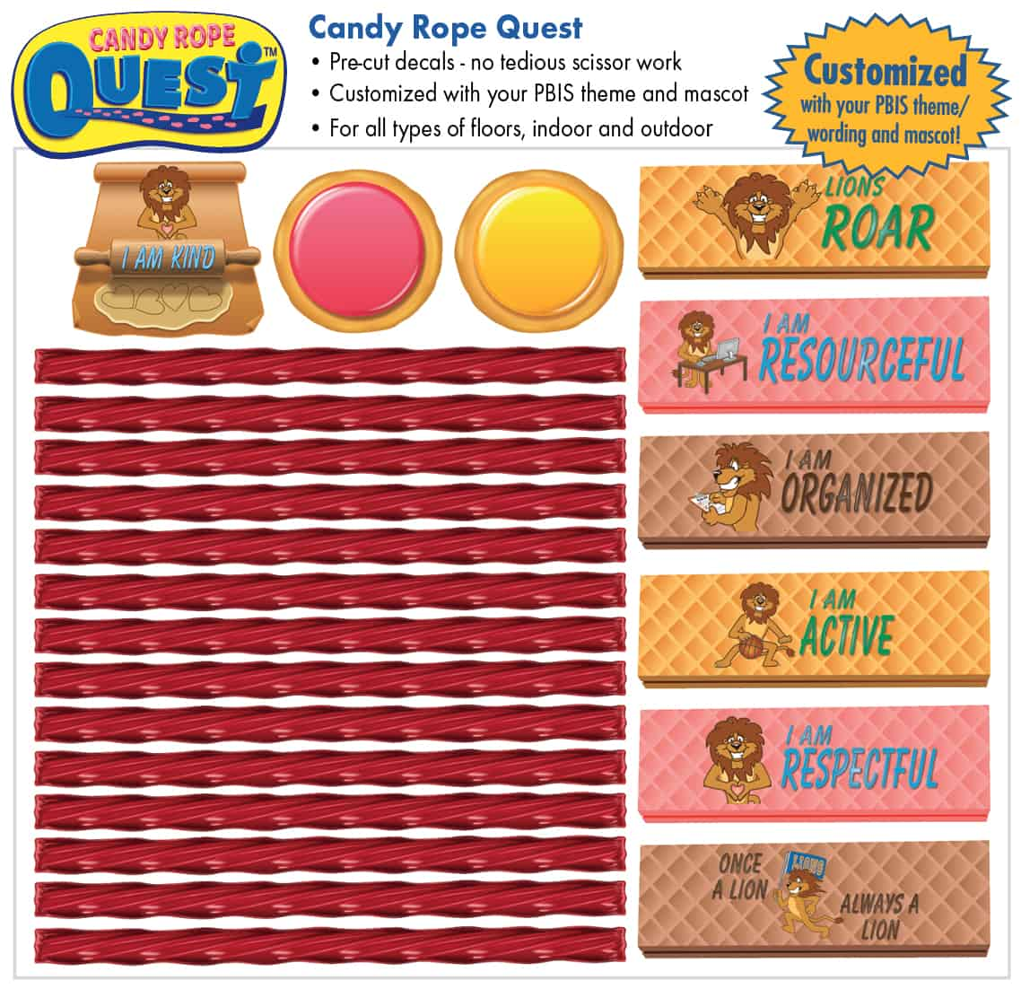 Candy Rope Quest Sensory Path
