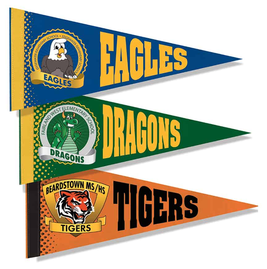 Flannel Pennant Flags
