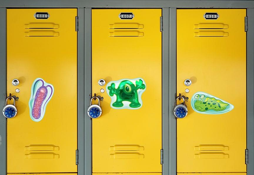 Lockers Germs