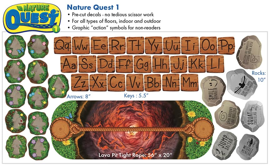 Nature Quest 1 Stickers