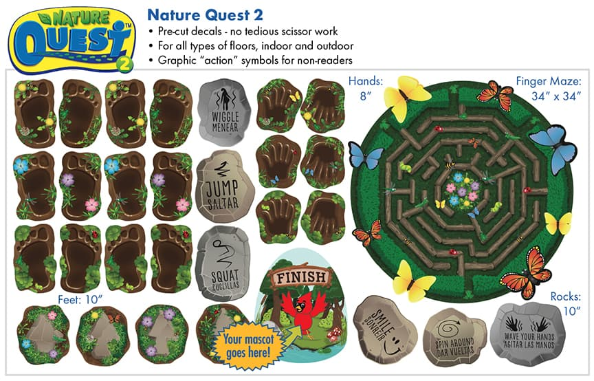 Nature Quest 2 Sensory Path Stickers