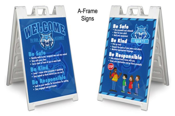 A-Frame Sidewalk Signs School