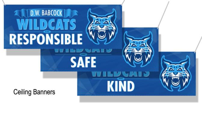 Ceiling Banners School PBIS