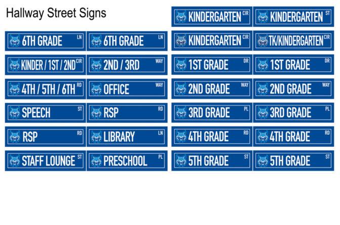 Hallway Street Signs School PBIS