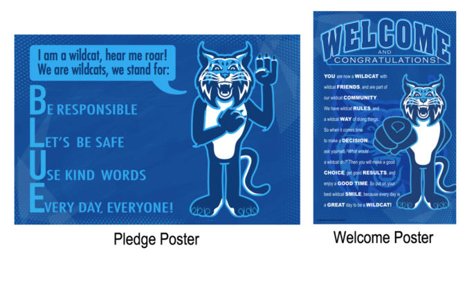 Pledge Poster School Mascot