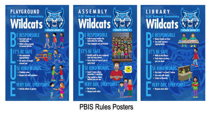 Rules Posters PBIS School